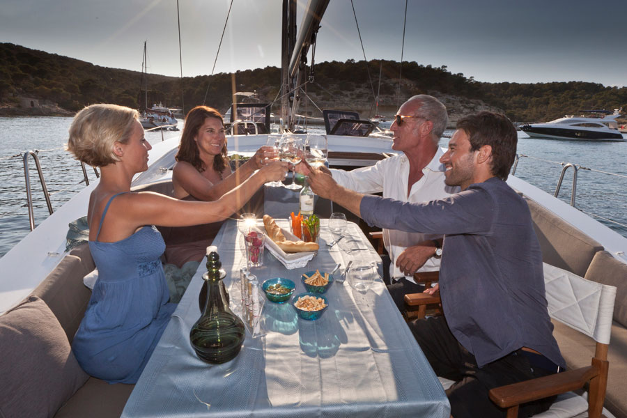 Sailing yachts and catamarans for charter in Slano near Dubrovnik in Croatia