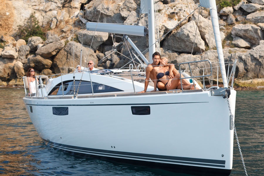 Sailing boats and catamarans for charter in Trogir near Split in Croatia