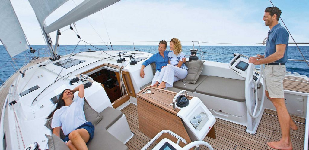 Sailing boats for charter in Pula in Istria in Croatia