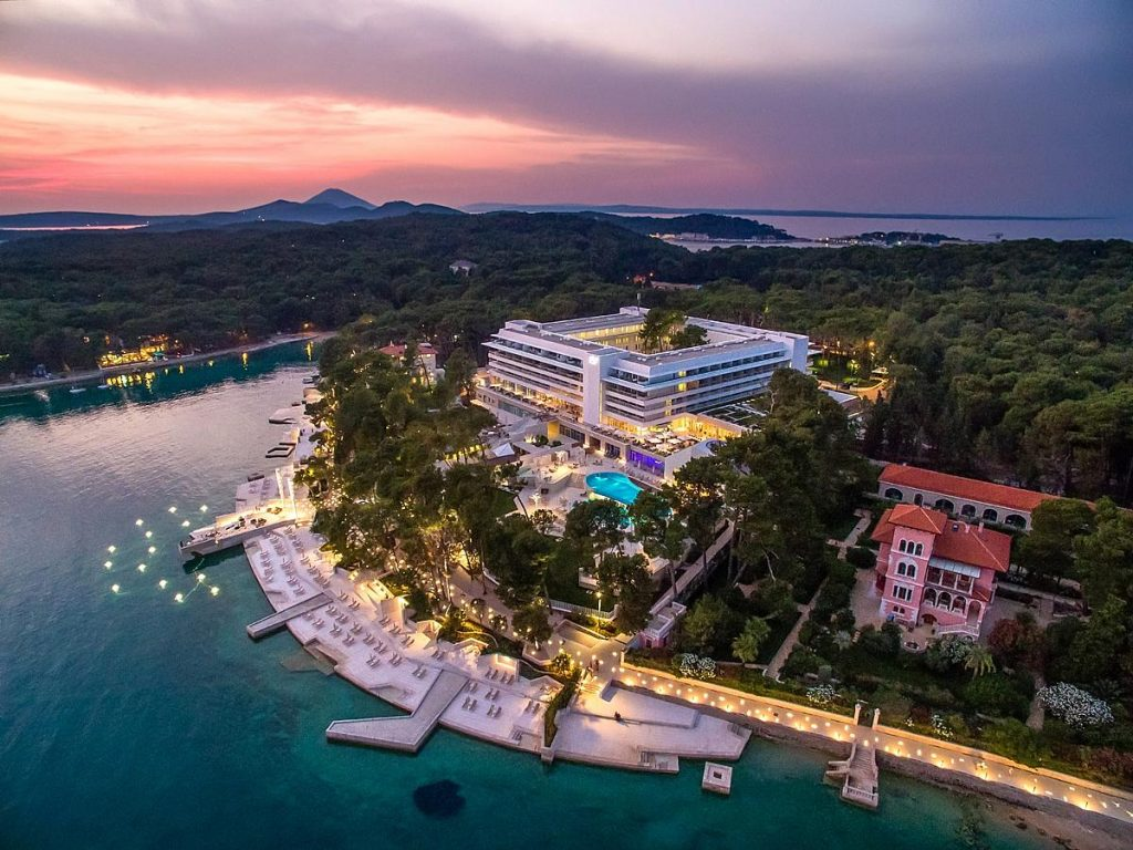 Luxury 5 star Hotel Bellevue in Mali Lošinj in Lošinj island in Croatia