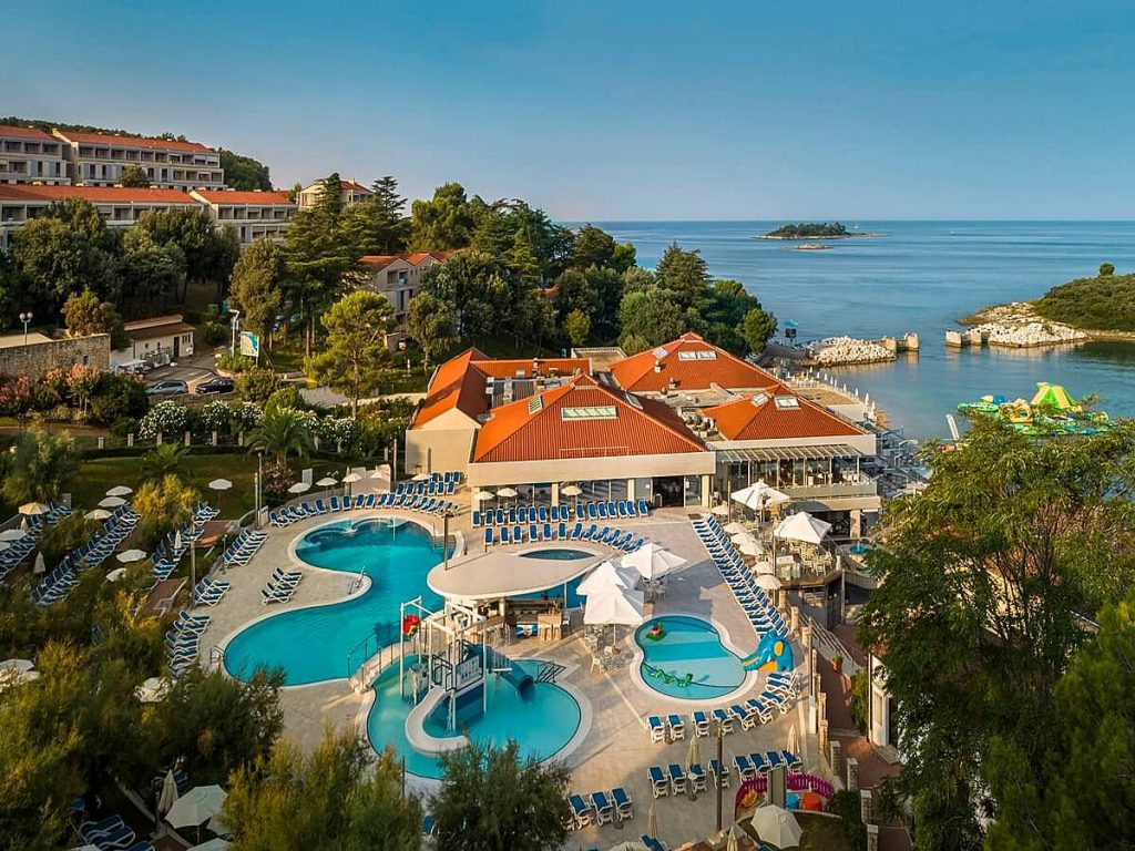 Belvedere Hotel in Vrsar in Istria in Croatia