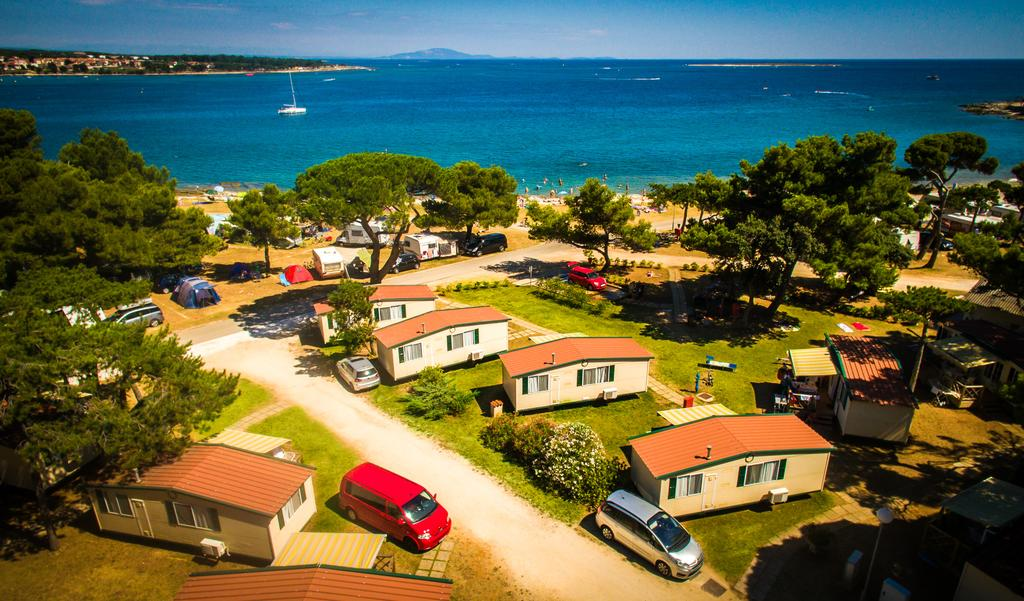 Mobile homes in Arena Medulin Camp in Medulin in Istria in Croatia