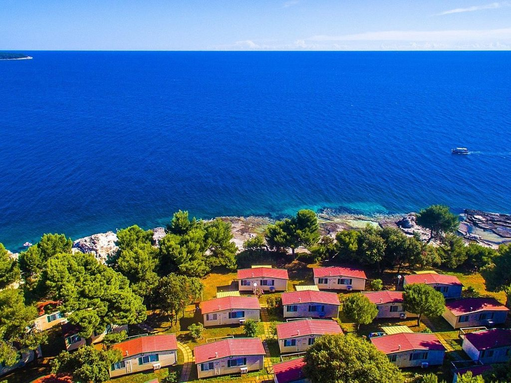 Mobile homes in Arena Campung Stoja in Pula in Istria in Croatia
