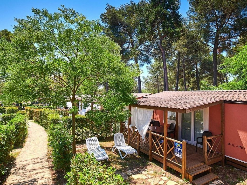 Mobile homes in Camping Resort Lanterna near Porec in Istria in Croatia
