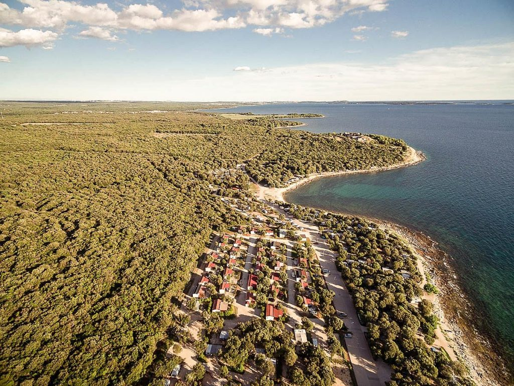 Mobile homes in Camping Mon Perin in Bale Near Rovinj in Istria in Croatia