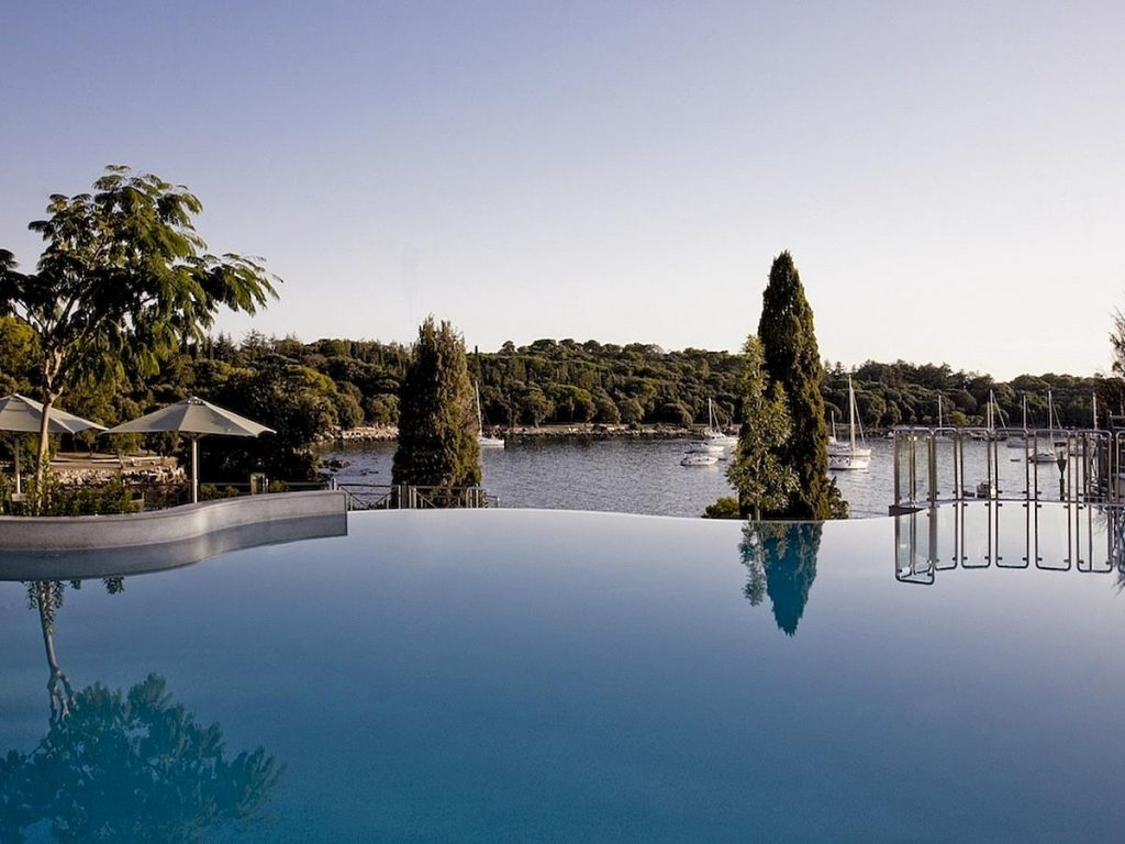 Luxury Monte Mulini Hotel and Suites in Rovinj in Istria in Croatia